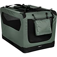 AmazonBasics Premium Folding Portable Soft Pet Dog Crate Carrier Kennel - 36 x 24 x 24 Inches, Grey