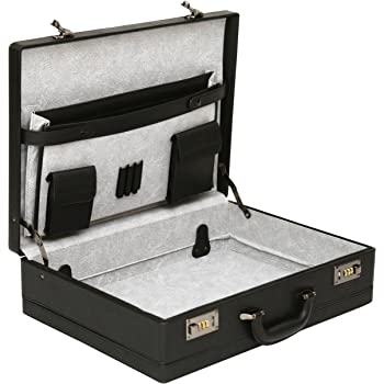 Tassia Bonded Leather Attaché Briefcase - Internal Expanding Filing ... 449bf0cd35b41
