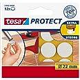 Tesa Oppervlaktebeschermers, Anti Scratch Zelfklevend Vilt Rond 18 Mm Dia, Wit (16 Pads) (Oude Versie) 22 mm Diameter/12 Pads