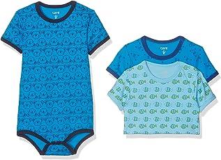 Care Baby - Jungen Kurzarm-Body im 3er Pack
