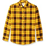 Amazon Essentials Regular-fit Long-sleeve Solid Flannel Shirt - button-down-shirts Hombre