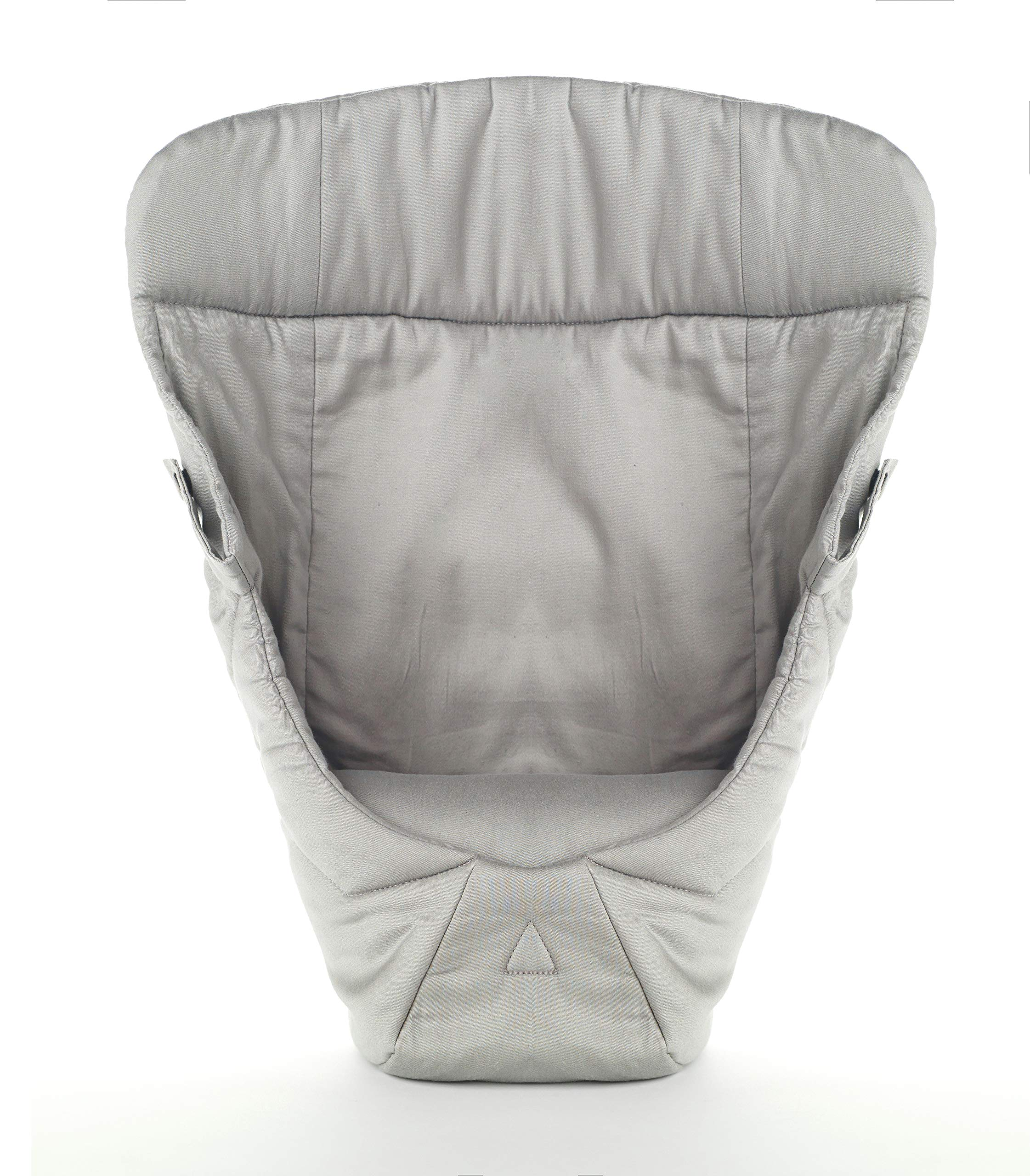 ERGObaby Infant insert for Baby Carrier Collection Original (3.2 - 5.kg), Cotton Grey Ergobaby Specially shaped pillow for supporting newborns in the frog-leg position Soft back panel for keeping baby's back slightly rounded in the carrier Head and neck support 3