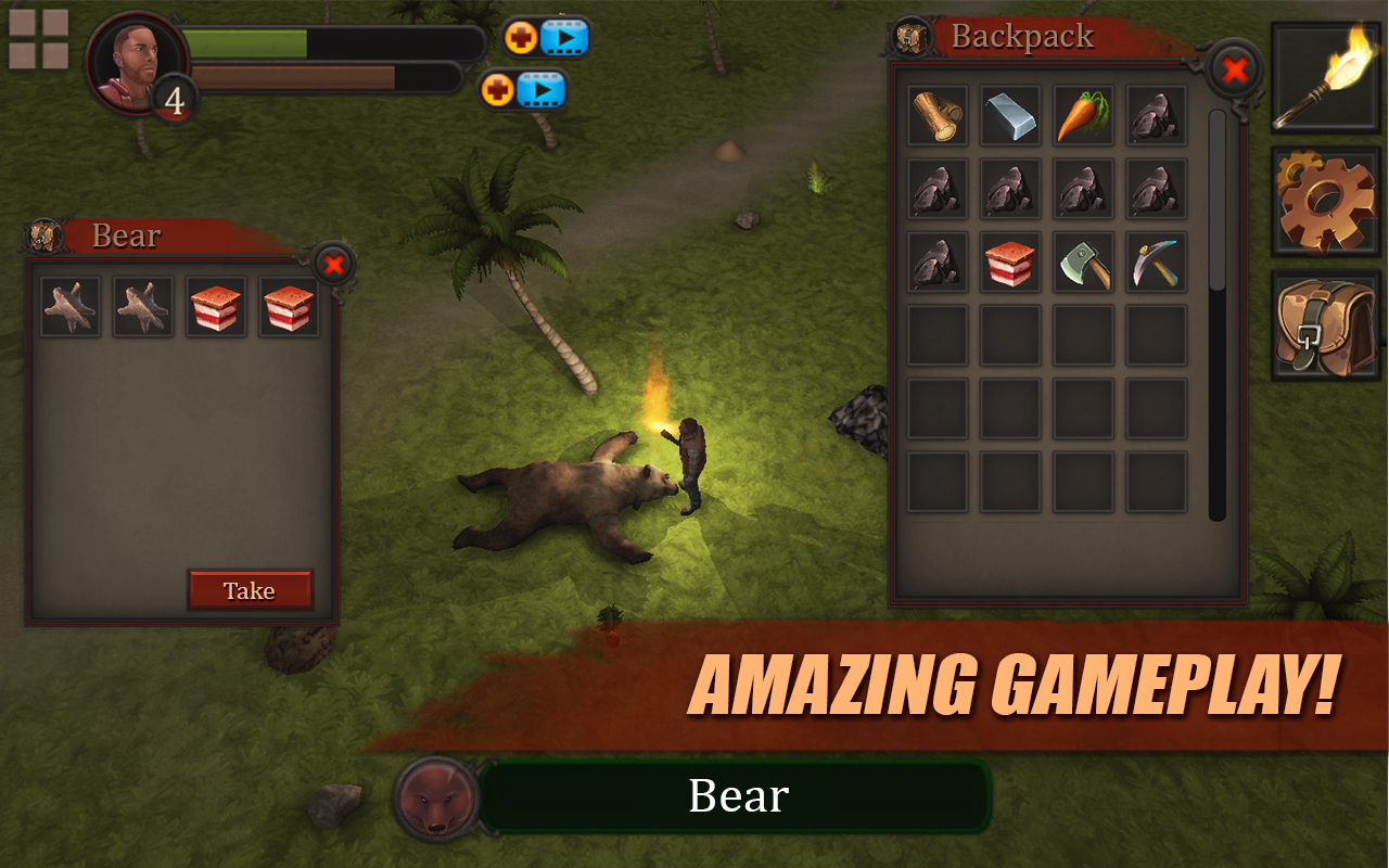 Survival Game: Lost Island 3D Full: Amazon co uk: Appstore