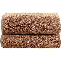 Lot de 2 serviettes de qualité supérieure 100 % coton 500 g/m² - Douces et moelleuses - Couleurs qui ne s'estompent pas…