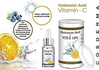 Cosmoderm Vitamin C+ Hyaluronic Acid Serum Derma Roller Serum ( Meso Serum) For Skin Whitening Fairness 10 Ml