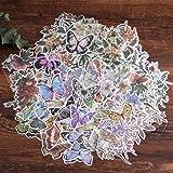 Autocollants de scrapbooking, autocollant de décoration de papier Lychii 240pcs avec plantes et fleurs naturelles, autocollan