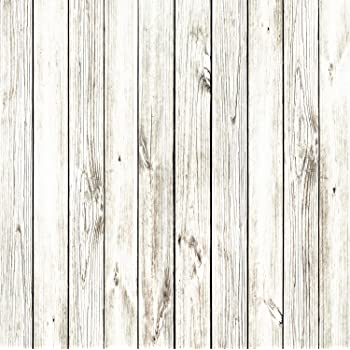 YongFoto 3x5ft Vinyl Gray White Wood Backdrops for Photography Light Gray Rustic Wooden Board Wood Plank Photo Background Party Wallpaper Kids Adults Picture Taking Photo Video Studio Props 100x150cm