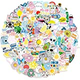 QWDDECO VSCO Style Stickerset, 200 stuks, Kawaii stickers voor laptop, waterflessen, skateboard, notebook, gitaar, reizen, fi
