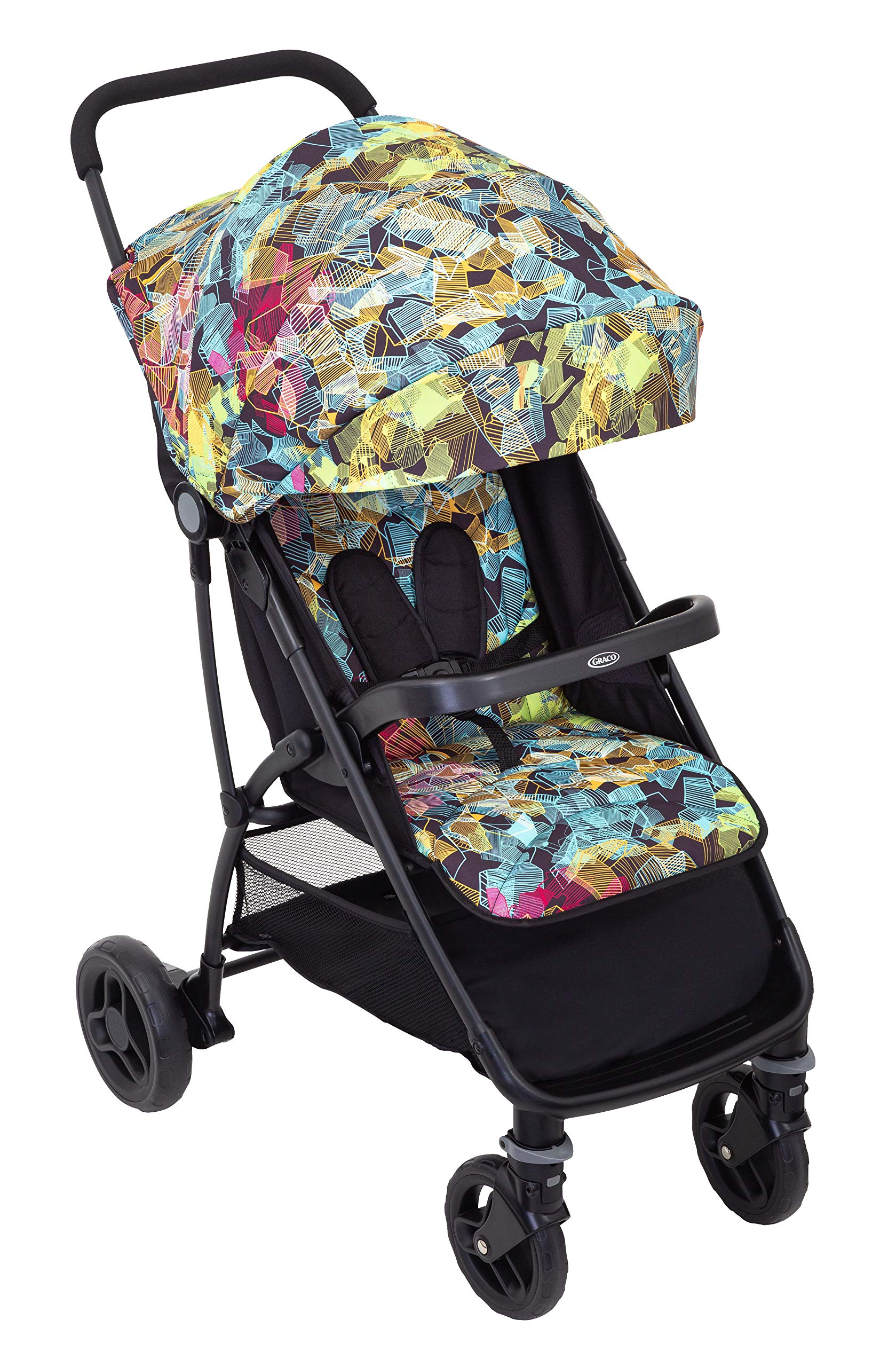 Graco Breaze Lite Stroller, Kaleidoscope Graco From birth to 3 years approx. (0-15kg) Lightweight at only 6.5kg Click connect travel system compatible with graco snugride/snugessentials isize infant car seats 2