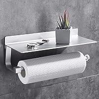 Gricol Porte-Rouleau de Cuisine sans Perçage Porte-Rouleau de Papier Mural Porte-Serviette de Cuisine Supports pour…