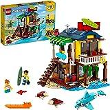 LEGO31118Creator3en1CasaSurferaenlaPlayaSetdeConstrucciónconFaroyCasadeVeranoconPiscina