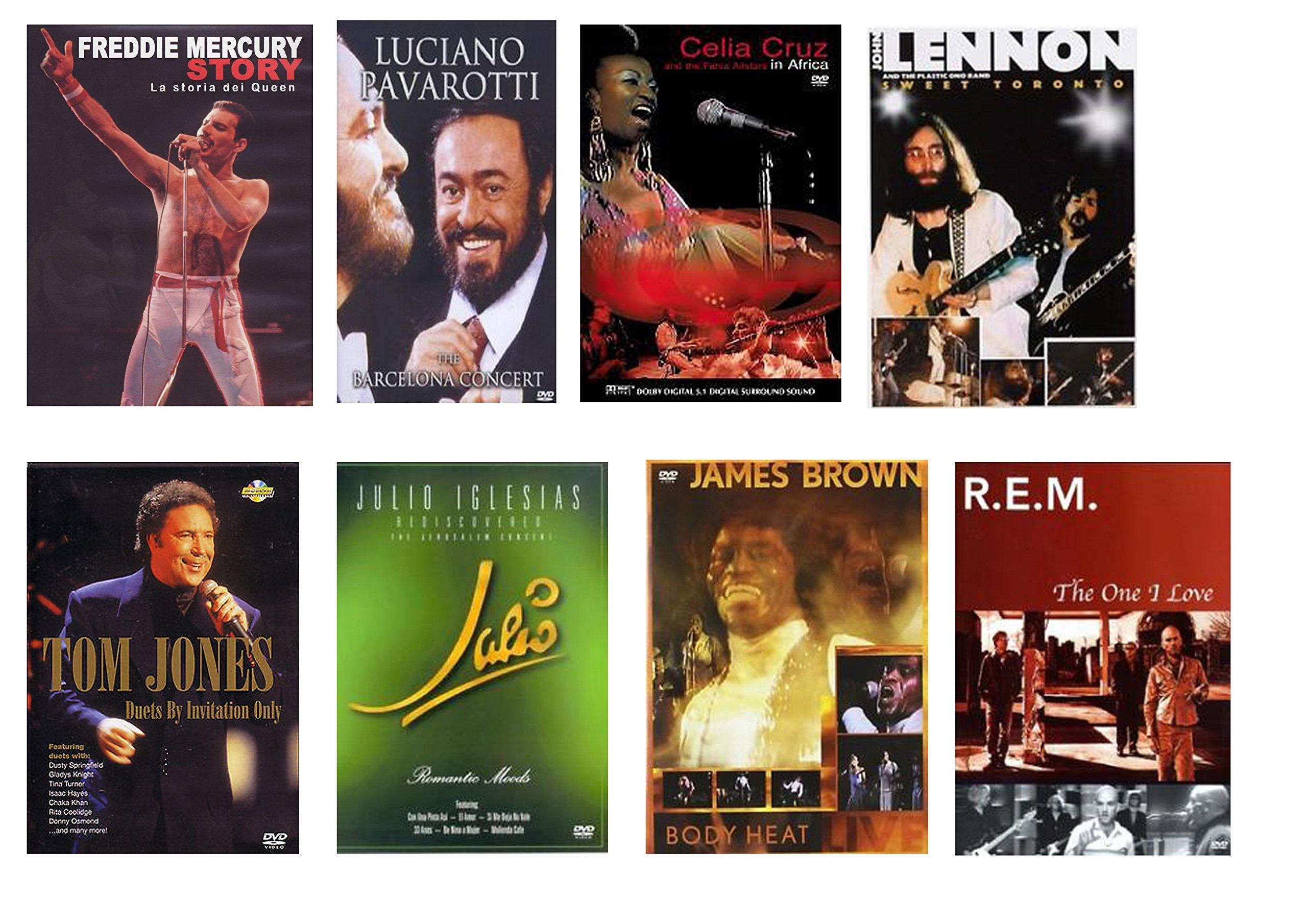 Special Offer 8 Concertos DVD Freedie Mercury, John Lennon, Luciano Pavarotti, James Brown, Julia I
