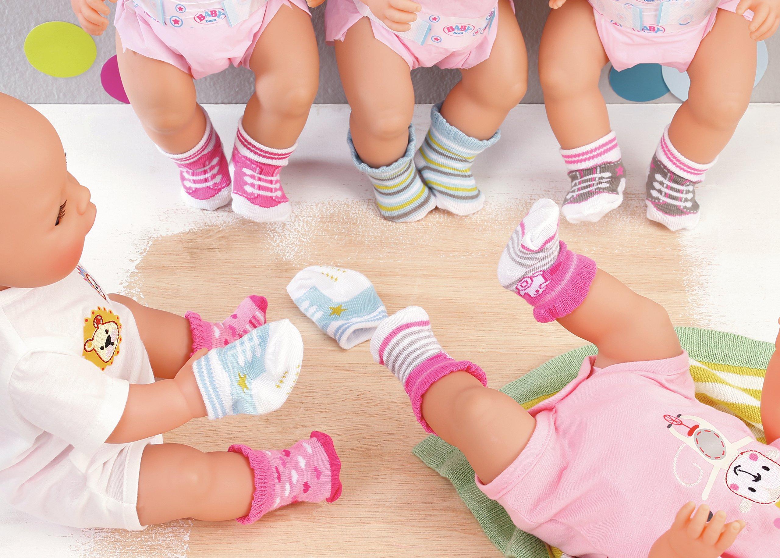 BABY born Socks, 2 pack Calcetines de muñeca - Accesorios para muñecas (2 pack, Calcetines de muñeca, 3 año(s… 5