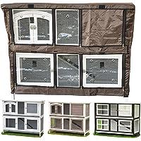 nanook Schutzhülle Wetterschutz Cover für Kaninchenstall Hasenstall Balu, Frederik, Kleintierstall mit Klappfunktion…