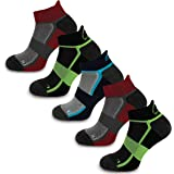 More Mile Bamboo Comfort 5 Pack Running Socks, Cushioned Sports Sock, Breathable & Anti Odour, Lightweight & Long Lasting, Ma