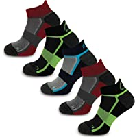 More Mile Bamboo Comfort 5 Pack Running Socks, Cushioned Sports Sock, Breathable & Anti Odour, Lightweight & Long…