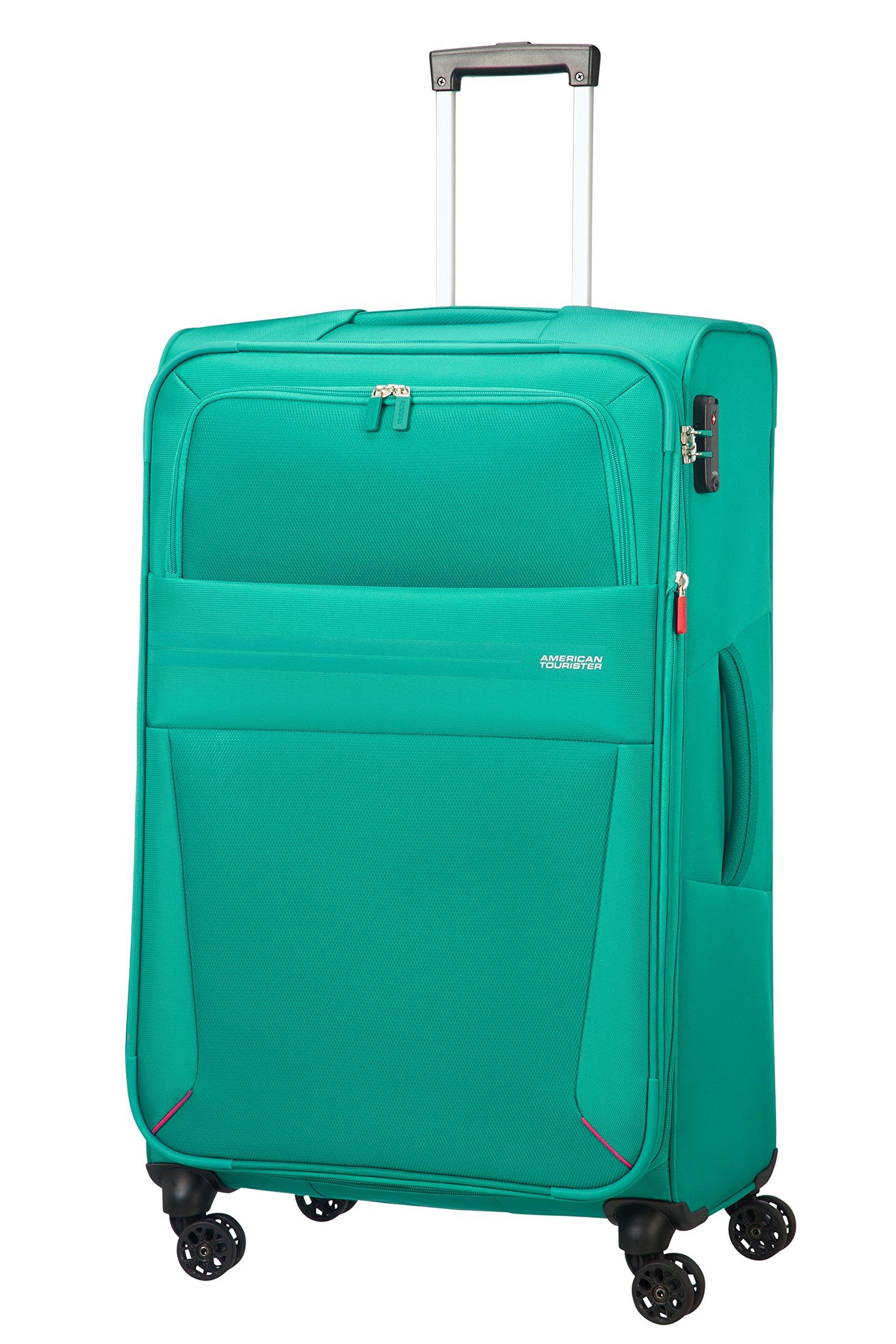 American-Tourister-Summer-Voyager-Spinner-Erweiterbar-39-kg-Koffer-79-cm-123-Liter-Peacock-Green