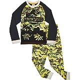 Jurassic World Pijama Niño, Pijama Dinosaurio Estampado Camuflaje, Pijamas de Dos Piezas Camiseta Manga Larga y Pantalones, R