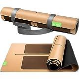 BACKLAxx® Kurk yogamat met natuurlijk rubber - duurzame yogamat antislip vrij van schadelijke stoffen met anti-slip zones - i