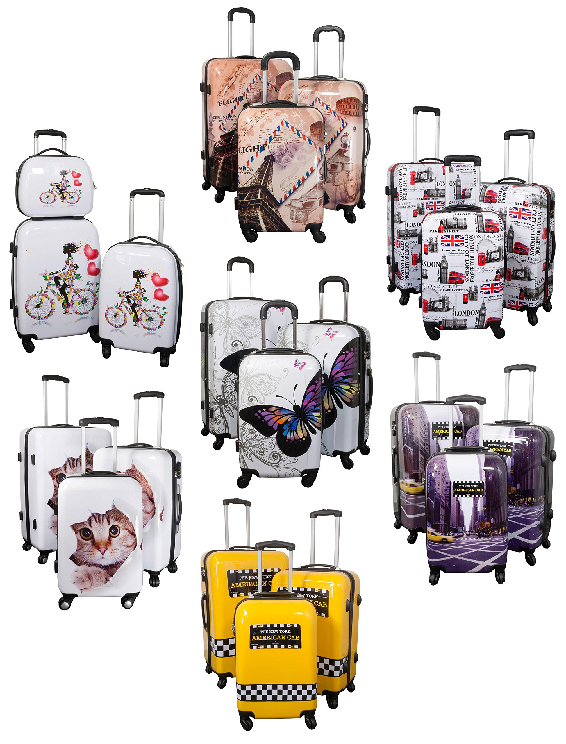 Kofferset-Gepckset-Polycarbonat-ABS-Hartschalen-Koffer-3tlg-Set-Trolley-Reisekoffer-Reisetrolley-Handgepck-Boardcase-Beautycase