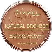 Rimmel - Poudre Bronzante Natural Bronzer - Waterproof et SPF 15 - Longue Tenue - 021 Sun light - 14gr