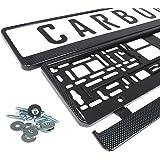 Kennzeichenhalter Nummernschildhalter Carbon Kennzeichenhalterung (schwarz - carbon)