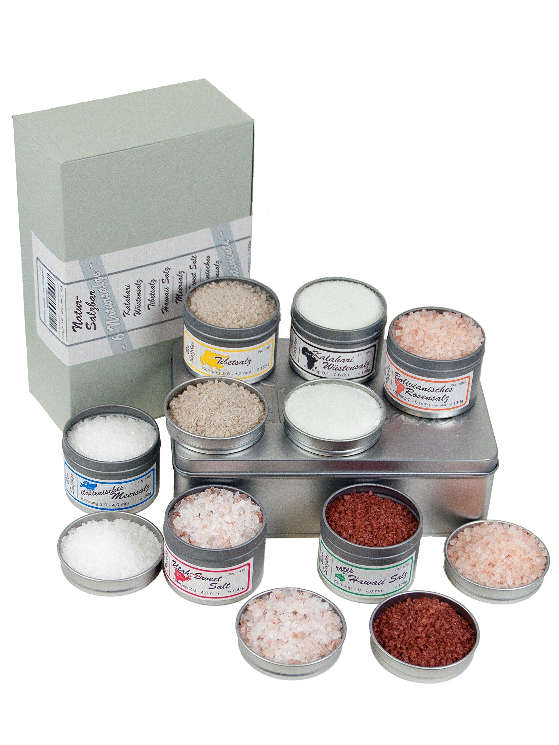direct&friendly 6 Kontinente Salzbar Geschenkset mit unterschiedlichen Natursalzen aus aller Welt 4
