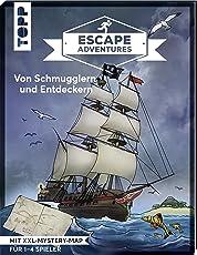 Escape Adventures – Von Schmugglern und Entdeckern: Das ultimative Escape-Room-Erlebnis jetzt auch als Buch! Mit XXL-Mystery-Map für 1-4 Spieler. 90 Minuten Spielzeit