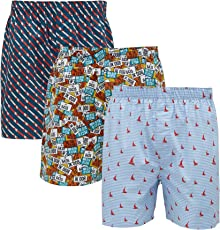 XY XX Men's Printed Cotton Boxer(Pack of 3)