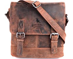 HIDE & SKIN Unisex Messenger Bag(Khaki)