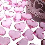 EinsSein 30x Dekosteine Funkelnde Herzen 22mm rosa Dekoration Streudeko Konfetti Tischdeko Hochzeit Hochzeit Konfetti Diamanten Diamant Glas groß