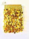 EERA FASHION ICING PRIVATE LIMITED Bead and Sequin Laces for Women Dresses, Crafts and Home Décor (10 mtr, Gold)