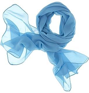 65b0eaba1b0e7 Dolce Abbraccio Damen Schal Stola Halstuch Tuch aus Chiffon für Frühling  Sommer Ganzjährig