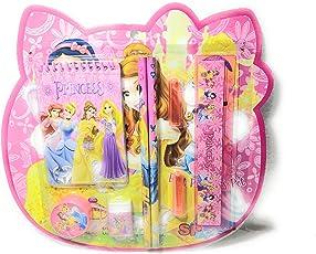 Kids Stationary Set | Pencil Gift Set | School Supply Set | Pencils and CAPS Eraser Sharpener Scale Mini Diary | 8 Pcs (Disney Princess)