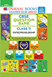 Oswaal CBSE Question Bank Chapterwise & Topicwise Class 11, Entrepreneurship (For 2021 Exam)