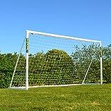 FORZA fotbollsmål med låsningssystem [3.7m x 1.8m]   Trädgårdsmål för barn – 100% väderbeständig PVC