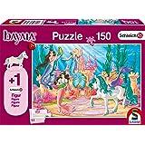Schmidt Spiele- Schleich - Puzzle Infantil (150 Piezas), diseño de Castillo de Meamare de Bayala, Color carbón (56303)