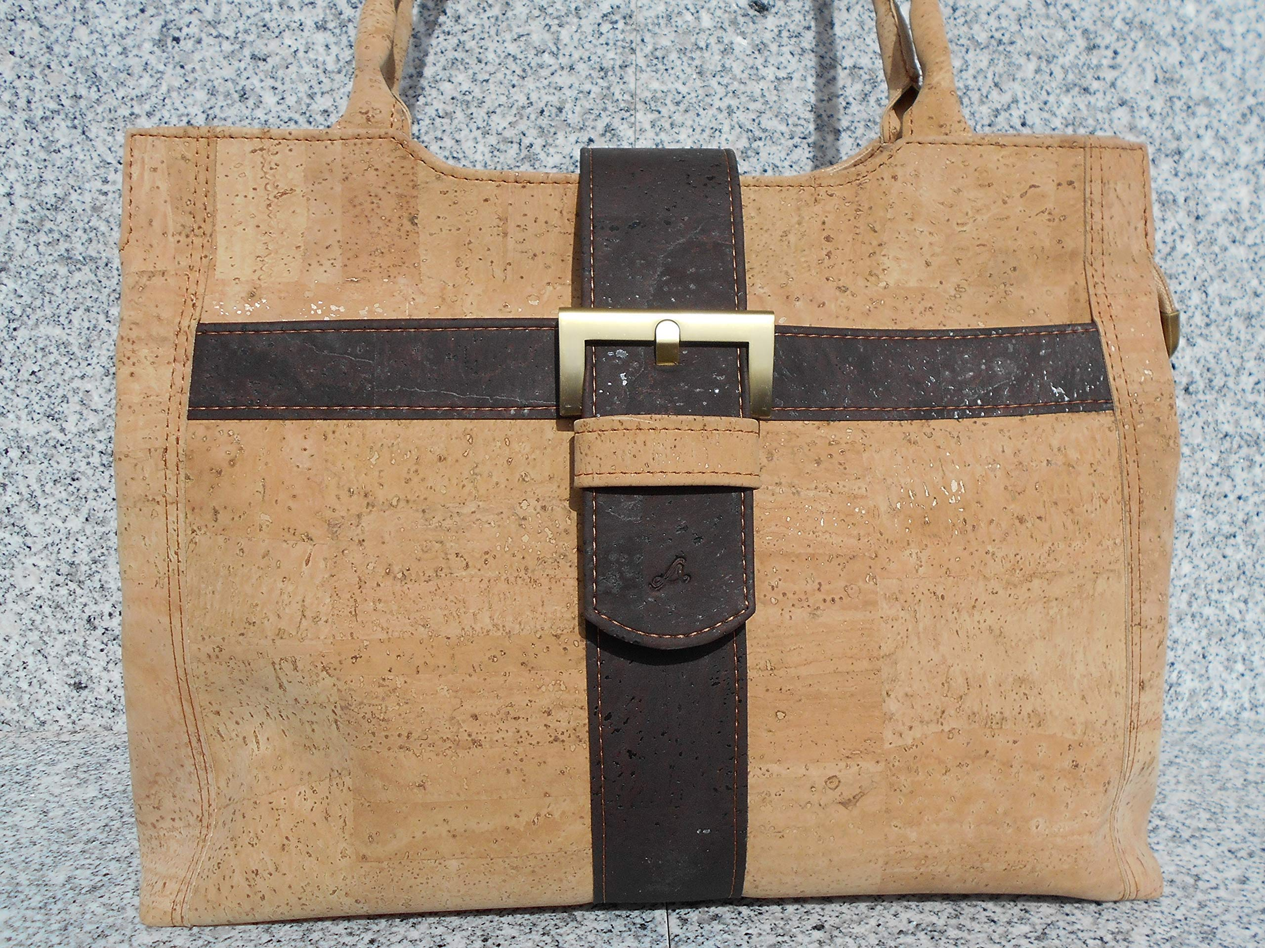 All cork handbag, workbag - handmade-bags