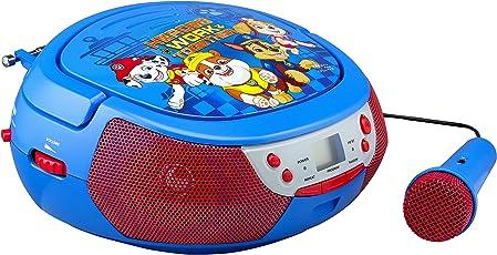 ekids PW-430 Paw Patrol CD Player mit Mikrofon für Kinder Tragbar Bunt