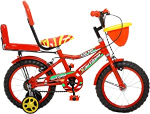 Outdoor Bikes Skoolmate Bicycle for 2.5- 4.5 Age Group with Semi Assembled with Assembly Instruction Manual and Tool Kit,14 Inches(ODSKOOLMATE14RED)
