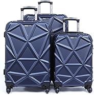 PARAJOHN Matrix 3-Piece Hard Trolley Luggage Set Dark Blue