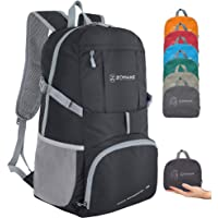 ZOMAKE Lightweight Foldable Backpack 35L, Water Resistant Rucksack, Unisex Nylon Daypack for Travel Hiking Cycling…