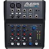 Alesis MultiMix 4 USB FX – Table de Mixage de Studio Compacte à 4 Voies avec Effets et Interface Audio Intégrés pour Un Enreg