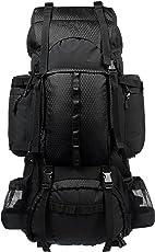 AmazonBasics Internal Frame (Hardback) Hiking Backpack with Raincover, 75Liters (Black)