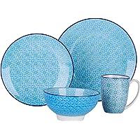 vancasso, série Macaron, Service de Table Japonais en Porcelaine 4 Pièces, Assiette Plate, Assiette à Dessert, Bols à…