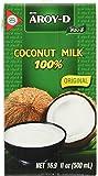 AROY-D Kokosmilch (mit E435 - Fettgehalt ca. 19% - Ideal zum Kochen, Backen, für Desserts und Cocktails) 8er Vorteilspack à 500 ml