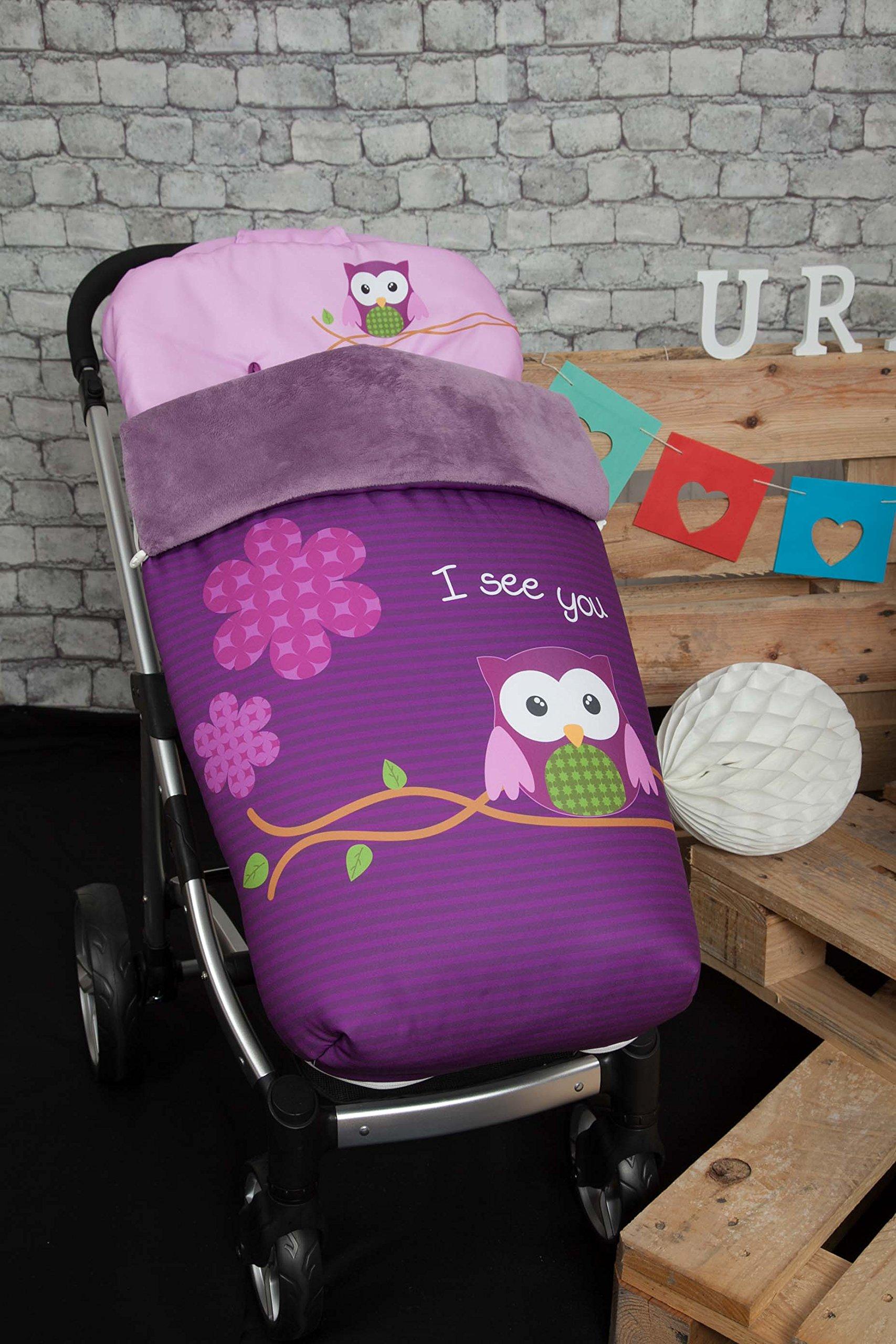 Babyline gufo���Sacco per passeggino, colore: viola