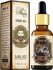 Captain Thug Beard Oil for Smooth and Shine - (recherché) Dark Age - Best Beard Growth Oil - 30ml