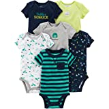 Simple Joys by Carter's 6-Pack Short-Sleeve Bodysuit Bebé-Niños, Pack de 6