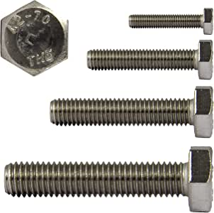 Sechskant-Schrauben DERING Sechskantschrauben M5x25 DIN 933 Edelstahl A2 rostfrei | Gewindeschrauben 4 St/ück